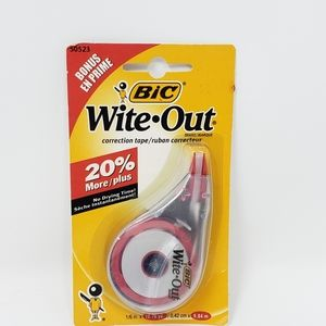 BIC Wite Out Correction Tape, 50523, NEW
